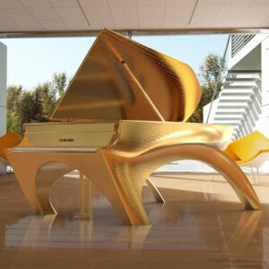 24K GOLD DESIGNER SELF PLAYING PIANO